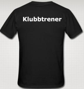 Klubbtrener T-skjorte bak